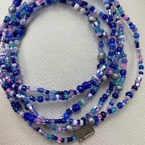 Me to We multicolored bead wrap bracelet